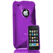 COQUE ETUI HOUSSES TPU S SILICONE GEL S-LINE VIOLET FILMS APPLE IPHONE 3G/ 3GS