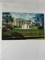 Vintage Color WHITE HOUSE Washington DC Pennsylvania Ave Picture Postcard 60's?