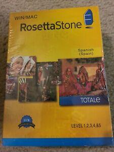 Rosetta Stone Spanish (Spain) Totale Levels 1-5, Version 4 WIN/MAC New Sealed