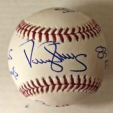 DARRYL STRAWBERRY SIGNED CAREER STATS BASEBALL New York METS MLB BAS COA AUTO B
