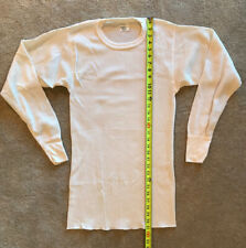 Vintage Thermal Shirt Long John Top Xl Sears 50/50 Cotton Poly New Open Package