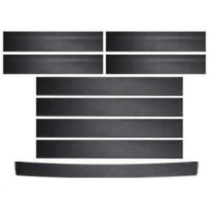 9Pcs Car Door Sill Scuff Cover Rear Trunk Guard Plate Anti Scratch Sticker Strip