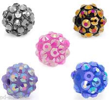PD:50 Mix Acryl Strass Kugel Ball Perlen Beads 12mm D. B18098