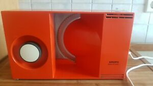 KRUPS Brot schneide maschine Orange - TYP 370 Allesschneider Vintage 70er Kult