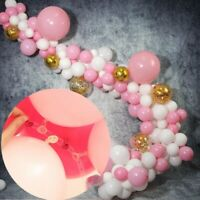 Pink Latex Confetti Balloons Arch Kit Birthday Wedding Baby Shower Party Decor