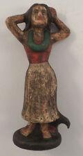 Cast Iron Bottle Opener Hawaiian Hula Dancer Girl Antique Patina