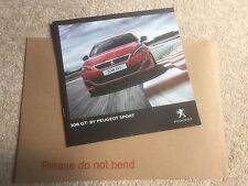 PEUGEOT 308 GTI UK Opuscolo Vendite - 30 pagine + 10/2015 Post veloce