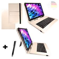 Hülle Deutsch Keyboard HUAWEI MediaPad M5 10.8 Bookcover Tastatur Beige 10.1
