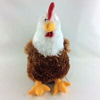 HUGFUN Chicken Rooster Plush Stuffed Toy New Brown White Head Farm Country