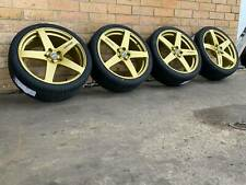 GOLD SIMMONS FRC 20 INCH WHEELS AND TYRE NEW SET OF 4 HOLDEN COMMODORE