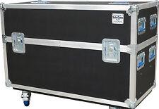"ATA CASE FOR Dual 50"" TV CASE Heavy Duty 3/8"" Ply- Lifetime Warranty!"