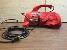 Vintage Dirt Devil Royal Hand Held Vacuum 103 Red Portable Car House Auto Works