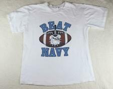Vintage The Citadel Bulldogs BEAT NAVY Football T Shirt Made USA Cotton m2