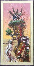 "Larry Fodor ""Speckled Corn Kachina st 2"" pink Original Color Lithograph H.Signed"