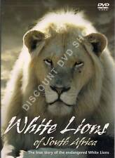 WHITE LIONS OF SOUTH AFRICA.THE ENDANGERED WHITE LIONS. New DVD