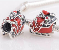 New European Silver CZ Charm Beads Fit sterling 925 Necklace Bracelet Chain 785w