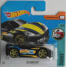 "HOT Wheels-Chevy Corvette c6 NERO ""tooned"" Nuovo/Scatola Originale"
