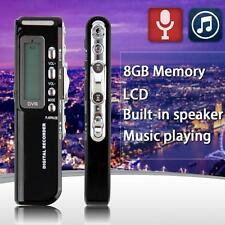 8GB 650Hr USB LCD Sn Digital Audio Voice Recorder Dictaphone MP3 Player BQ