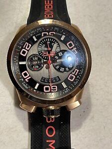 Bomberg Bolt 68 Chronograph GMT 1/10 Sec, 100M WR Tachymeter Timer!
