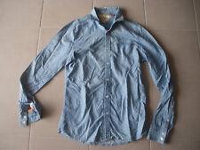 Chemise JAPAN RAGS bleu taille S à manches longues