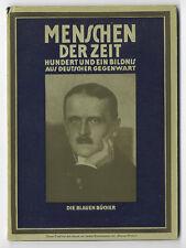 100 célèbre allemande Junkers Homme Adenauer Weber Kokoschka Photo recueil 1930