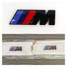 2x BMW M Sport Emblem Gloss Black Sticker Side Wing Fender Badge 45x15mm 🇬🇧