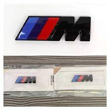 2x BMW M Sport Emblem Gloss Black Sticker Side Wing Fender Badge 45x15mm 🇬🇧