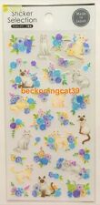 GAIA Animal Siamese Cat Washi Sticker Selection Flower Rose Blue MADE IN JAPAN