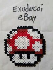 SUPER MUSHROOM RED ITEM MARIO BROS BROTHERS BEAD SPRITE PERLER ART NINTENDO