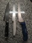 """Anolon Chef Knife plus a 5"""" vegetable knife and a bread knife."""
