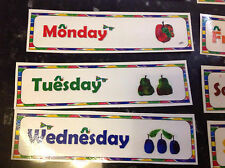 Days of the week flashcards great for literacy printed and laminated
