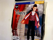 Boy Child Large 10-12 Vampire Halloween Costume