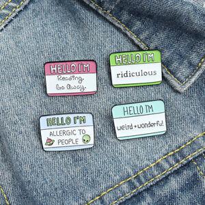 Fun Dialogue Quote Enamel Pins Humor Brooches Bag Clothes Lapel Pin LabFY