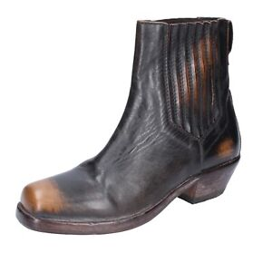 Women's shoes MOMA 9 (EU 39) ankle boots brown leather black BJ653-39