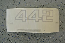 NOS 1984-87 Oldsmobile Cutlass Supreme 442 Front Door Side Decal Gold 22528708