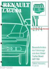 RENAULT LAGUNA MOTOR G8T 760 TURBO DIESEL INSTANDSETZUNG WERKSTATT HANDBUCH