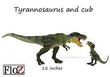 Dinosaurs Tyrannosaurus T-Rex & cub 2 Figures prehistoric FloZ Collectible