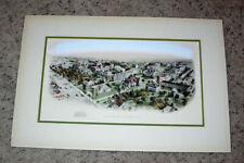 VINTAGE LITHOGRAPH OF IVY LEAGUE PRINCETON UNIVERSITY CAMPUS HORSE & BUGGY DAYS