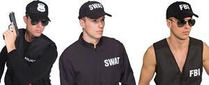 Polizei Polizeimütze Schwarz Beasecap Cap Police Hut Mütze Kappe Kostüm Uniform