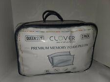 2 Pack Clover Premium Memory Foam Pillows Size:Queen