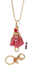 MANUEL ZED ZOPPINI COLLANA BAMBOLA ROSSA DOLLY PORTACHIAVE NECKLACE RED KEYRING
