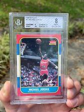 1986 Fleer Michael Jordan Rookie Card RC #57 BGS 8 NM (8, 8, 8, 8.5)