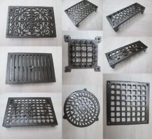 CAST IRON OLD RETRO VINTAGE REPRO RUSTIC VICTORIAN AIR VENT BRICK GRILLE COVER