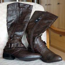 Damen Stiefel Größe 40 Braun mit Muster