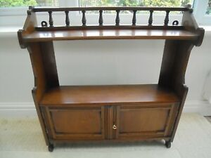 Antique mahogany wall cupboard with key and shelf, Edwardian, early 20th century