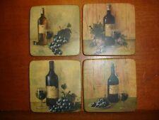 (4) Wine Bottle Stone Coasters