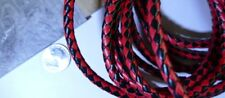 """DIY Wedding Party Bolo Ties Red Black Diamond 5-6MM Thick Special  2pcs 40"""""""