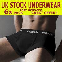 6 x mens black boxers trunks calvin shorts underwear ck 365 klein m l xl