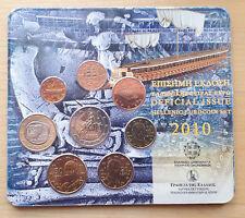 2010 - 8 pieces  Coins  3,88 EURO Greece Grece - 2 € Europa-Bull  - BU Blister