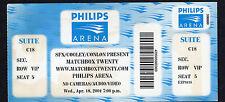 2001 Matchbox Twenty unused full concert ticket Philips Arena Atlanta Mad Season